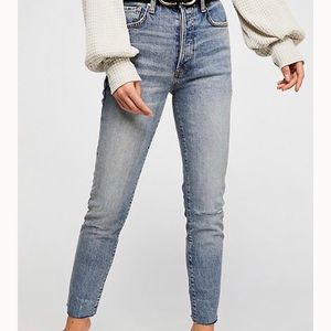 Free People Stella High-Waisted Skinny Jeans